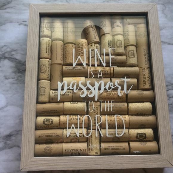 Wine Cork Shadowbox Frame Wall Decoration